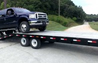How not to load a truck on a trailer
