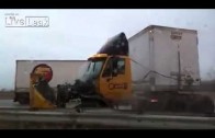 Incredible Close Call With Semi Truck