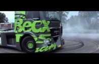 Drift by truck – MAN TGS 18.1100 Topspeed 215 km/h