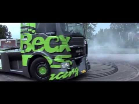 Drift by truck – MAN TGS 18.1100 Topspeed 215 km/h