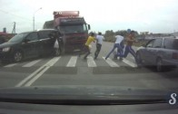 Un camion renverse 6 piétons