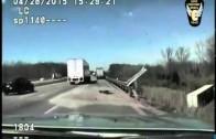 Jamais facile d'être policier sur les lieux d'un accident.