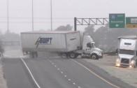 """Les routes glacées… et la conduite des """"trucks"""""""