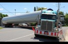 Semi gets stuck and SOLUTION – Wind turbine tower hauling truck