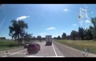 Une collision évité de peu à Dorking Ontario