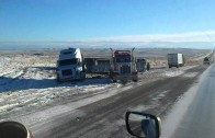 Des images du Wyoming datant du 11 novembre 2015 sur l'Interstate 80