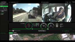 La dashcam film l'inattention d'un chauffeur de camion