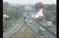 Accident terrible d'un poids lourds en Italie le
