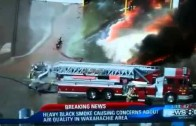 Fire truck consumed in fire