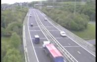 Truck accident caught on police camera Motorway M621 (M62 Crash Leeds West Yorks UK)