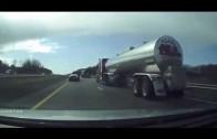 Dash Camera Catches Accident – 3 Car Camero, Semi Truck, Van Crash