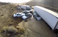 Image spectaculaire de la castastrophe naturelle de la 58 en Californie